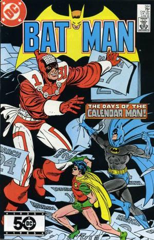 calendar man | A Dispensable List of Comic Book Lists