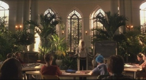 Casa Loma's conservatory, decked out as an X-classroom.