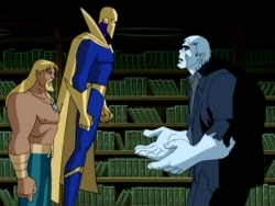 Aquaman, Doctor Fate, and Grundy