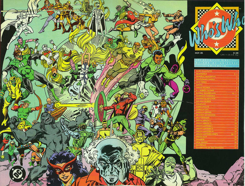 Who/'s Who Definitive Directory of DC Universe 1985 series # 24 very fine comic