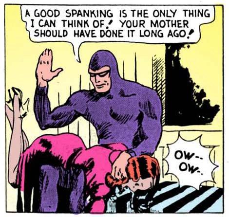 Spank spank ow ow waa waa